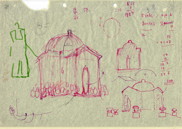 FEST FÜR LEDA -  Dibujo del Templo de los Cisnes